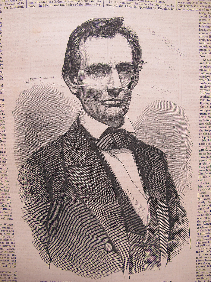 1860 Young Abraham Lincoln No Beard President Campaign